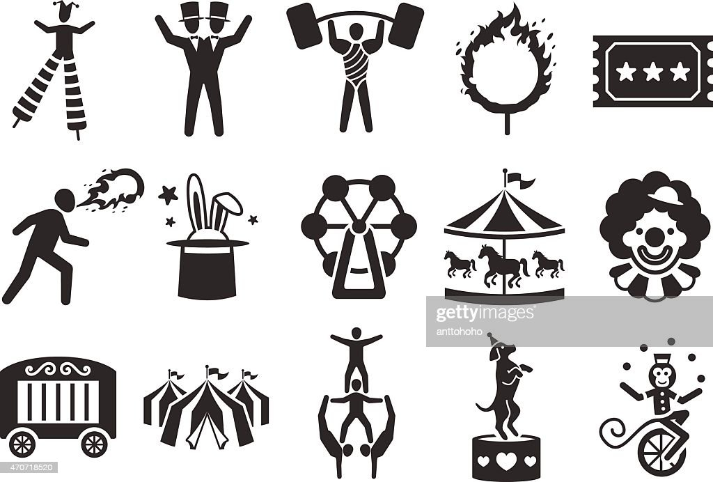 Stock Vector Illustration: Circus icons set 2