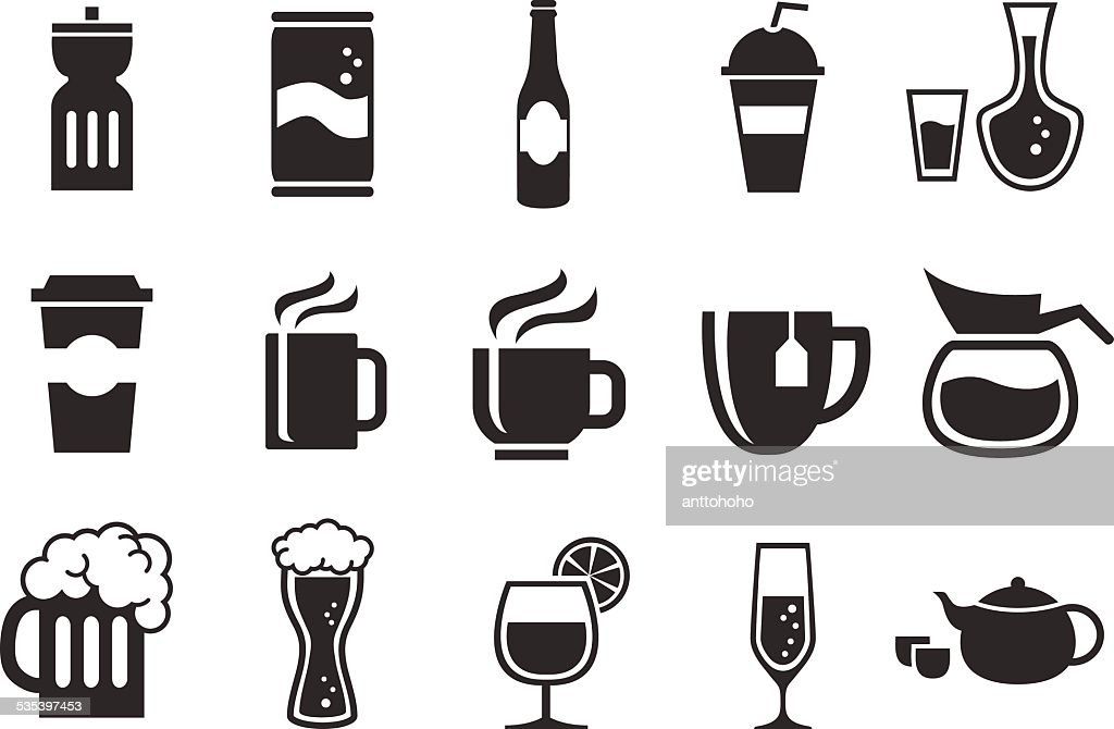 Stock Vector Illustration: Drink icons