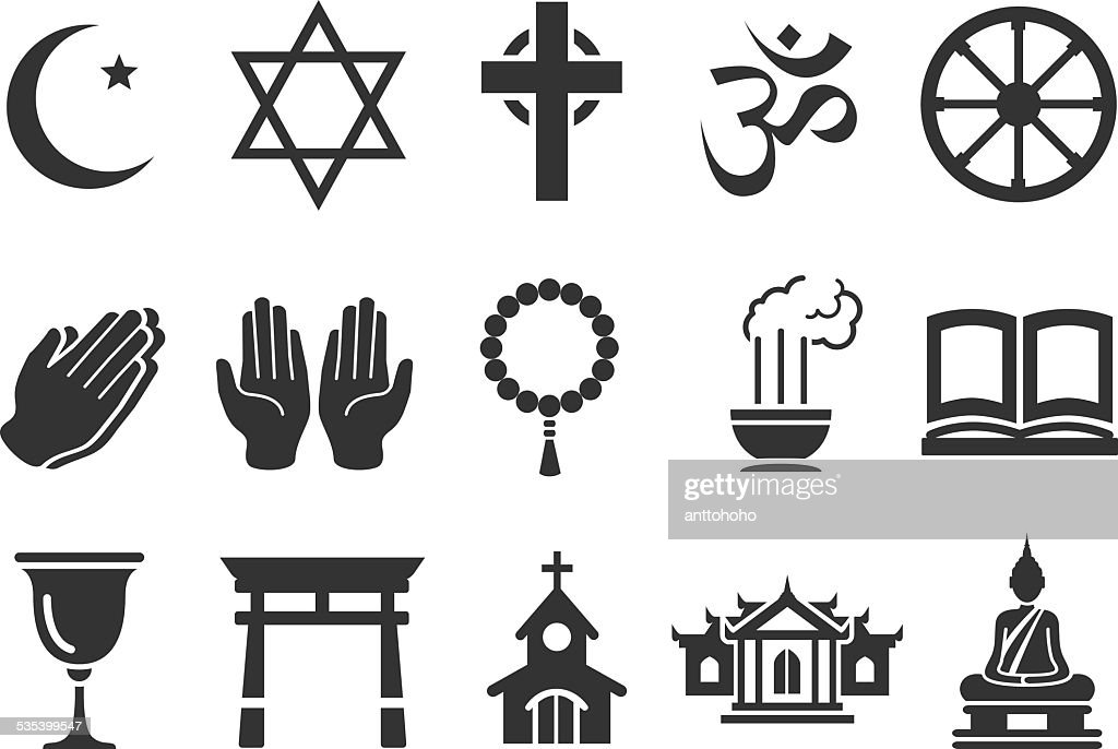 Stock Vector Illustration: Religious icons