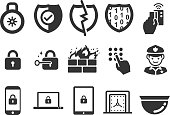 Stock Vector Illustration: Security icons set 1