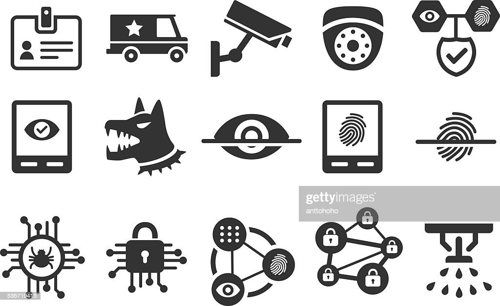 Stock Vector Illustration: Security icons set 2