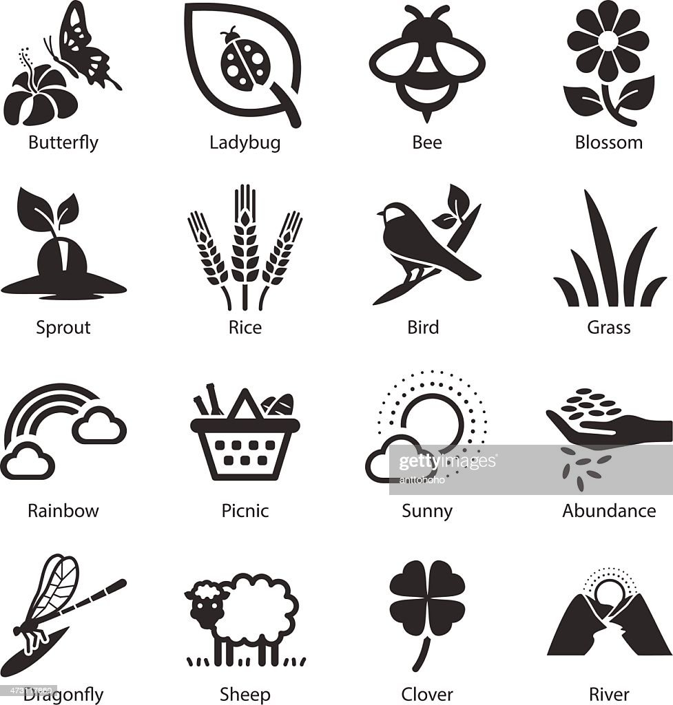 Stock Vector Illustration: Spring icons
