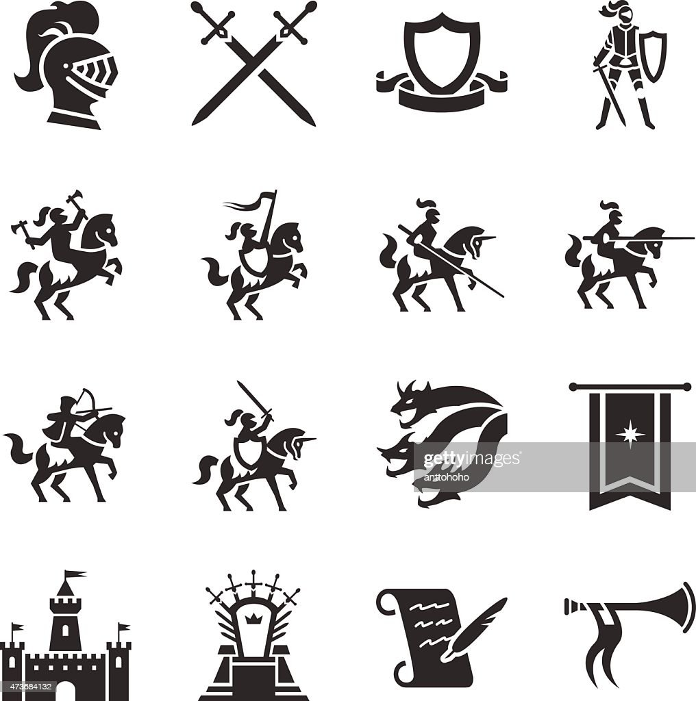 Stock Vector Illustration: The Middle Ages