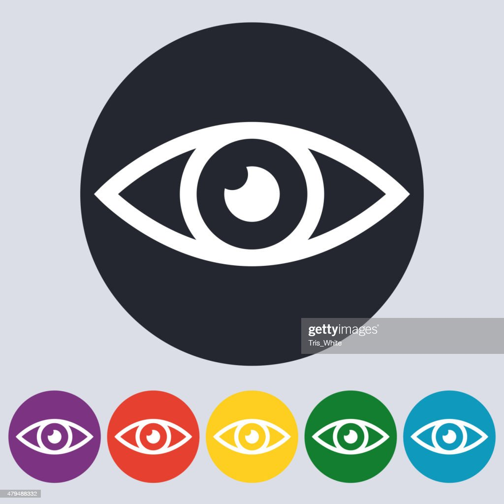 Stock Vector Linear icon eyes. Flat design