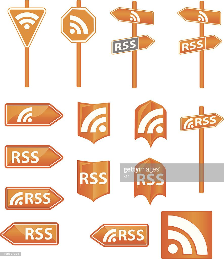 Stock Vector RSS icons