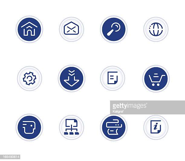 stock-vektorgrafik: website & internet icons/schwarz - card file stock-grafiken, -clipart, -cartoons und -symbole