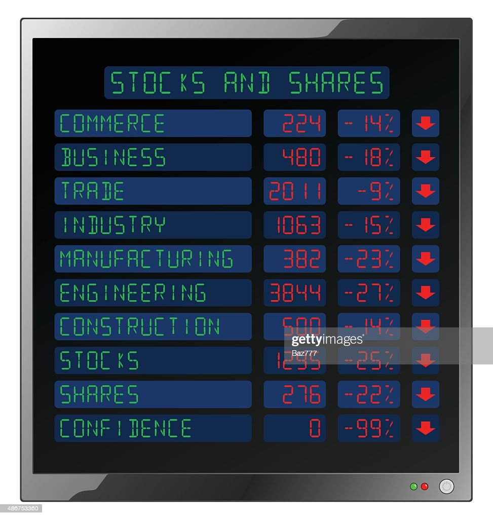 Stocks and Shares Crash