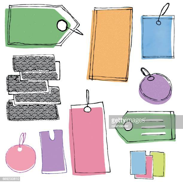 stockvector_1290 hand drawn price tags and labels - labeling stock illustrations, clip art, cartoons, & icons