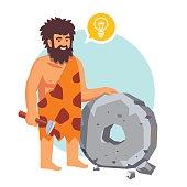Stone age primitive man had an idea