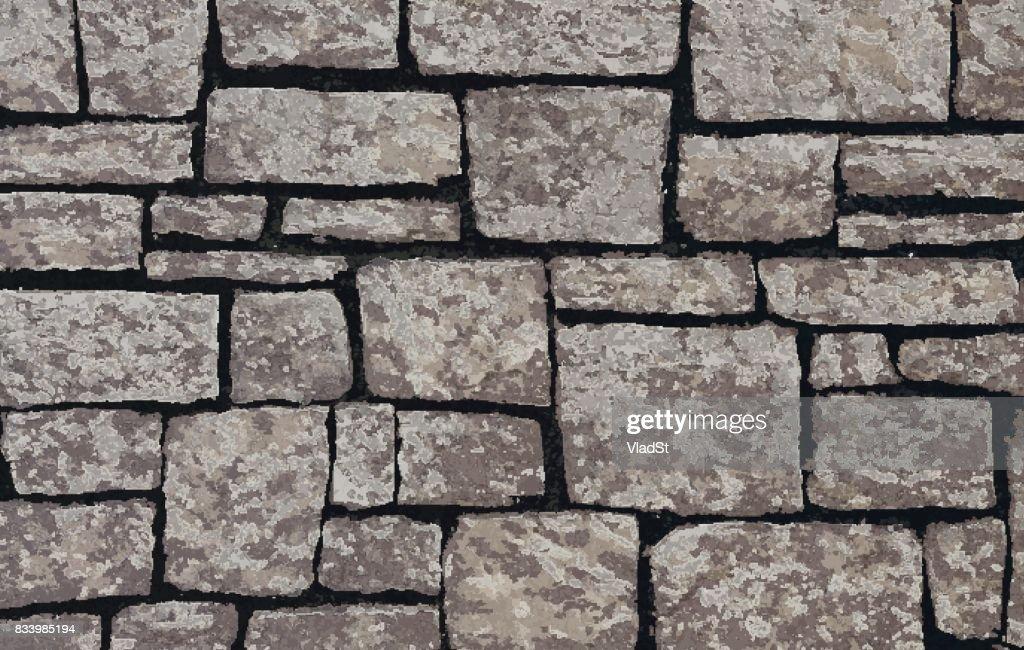 Stone blocks brick wall textured background