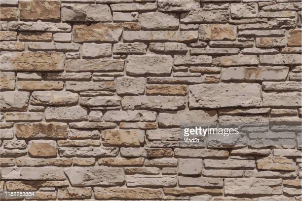 stone brick wall textured sandstone grunge background illustration - stone wall stock illustrations