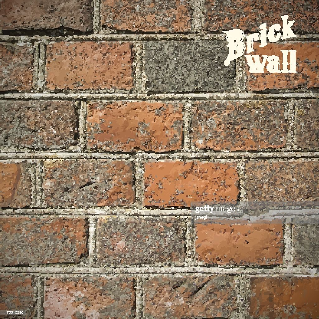 Stone Brick wall Vector illustration background - texture pattern.