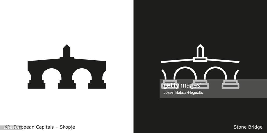 Stone Bridge Icon - Skopje