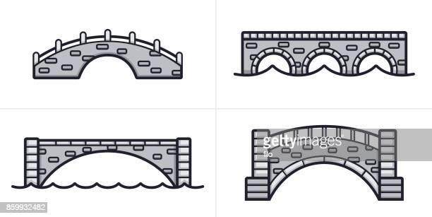 石造りの橋がシンボルします。