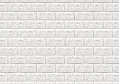 Stone lined with granite. Stone background wall. Facing Stone. White brick wall in subway tile pattern. Vector illustration.