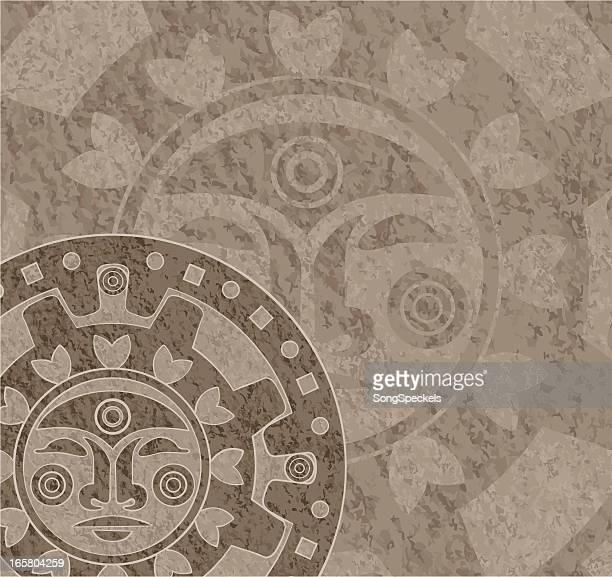 ilustraciones, imágenes clip art, dibujos animados e iconos de stock de stone calendario maya - calendario maya