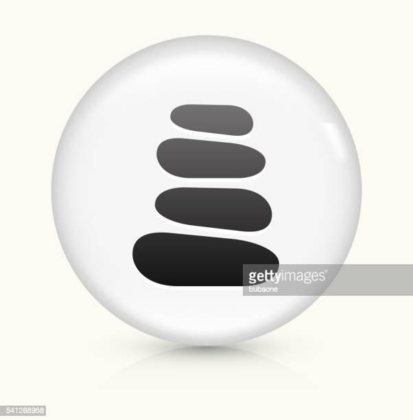 Stone Path icon on white round vector button