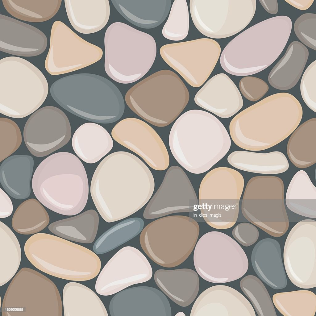Stone seamless background texture. Pebbles seamless pattern.