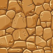 Stone texture in brown colors seamless background.