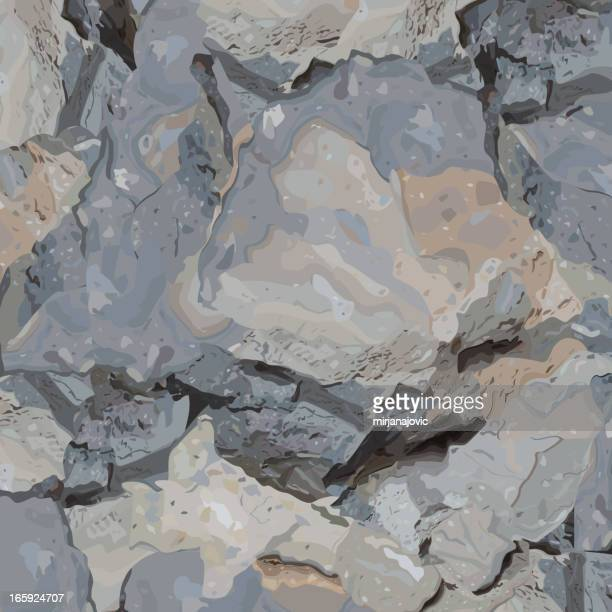 stone texture - boulder rock stock illustrations, clip art, cartoons, & icons