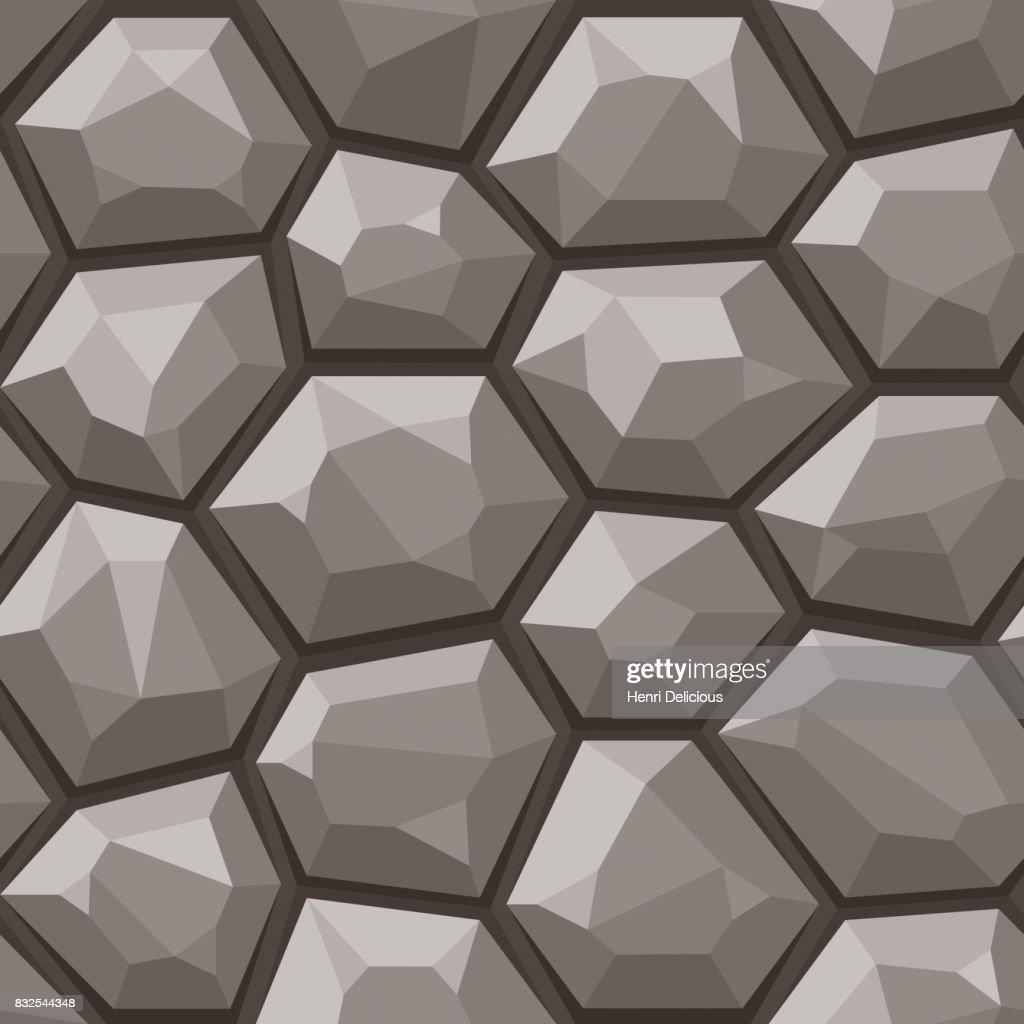 Stone wall seamless pattern, grey