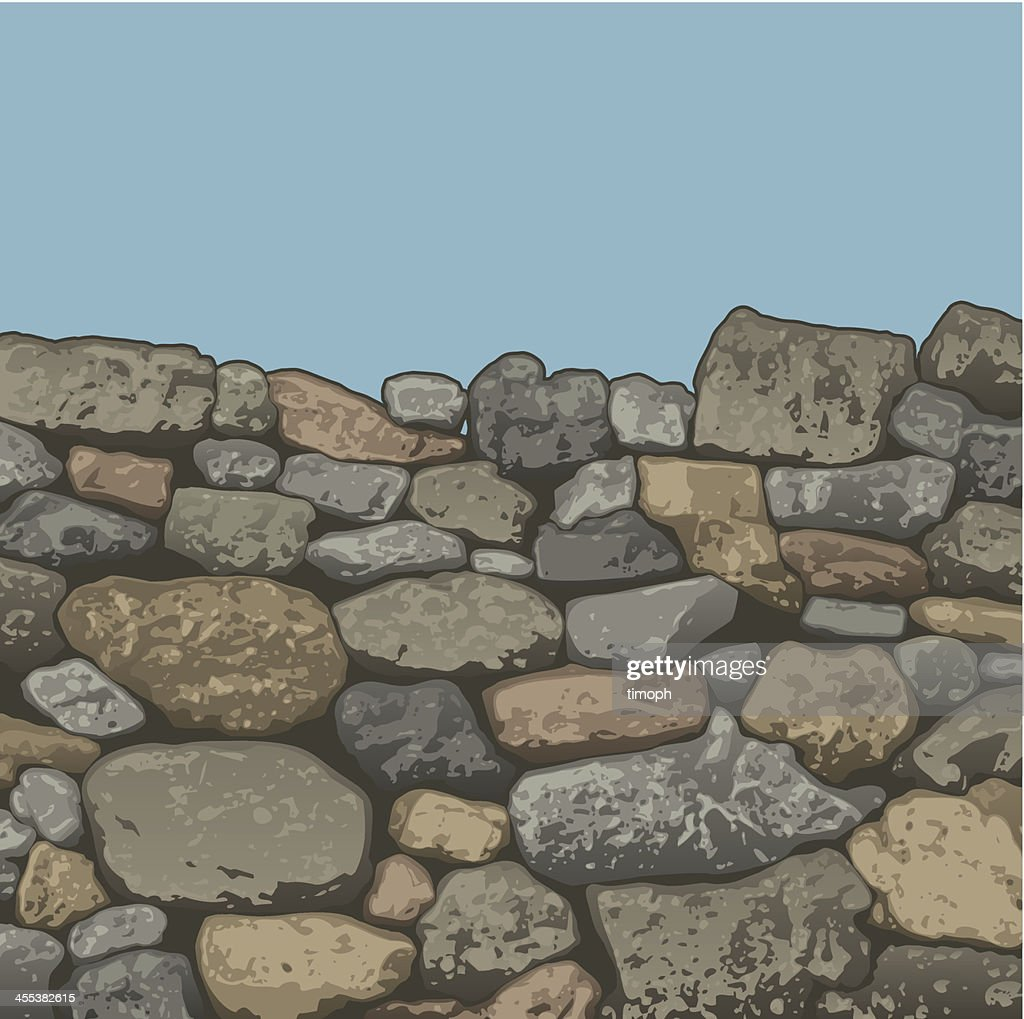 Stone wall top