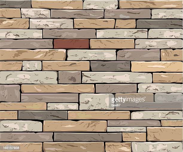 stone wall - fortified wall stock illustrations