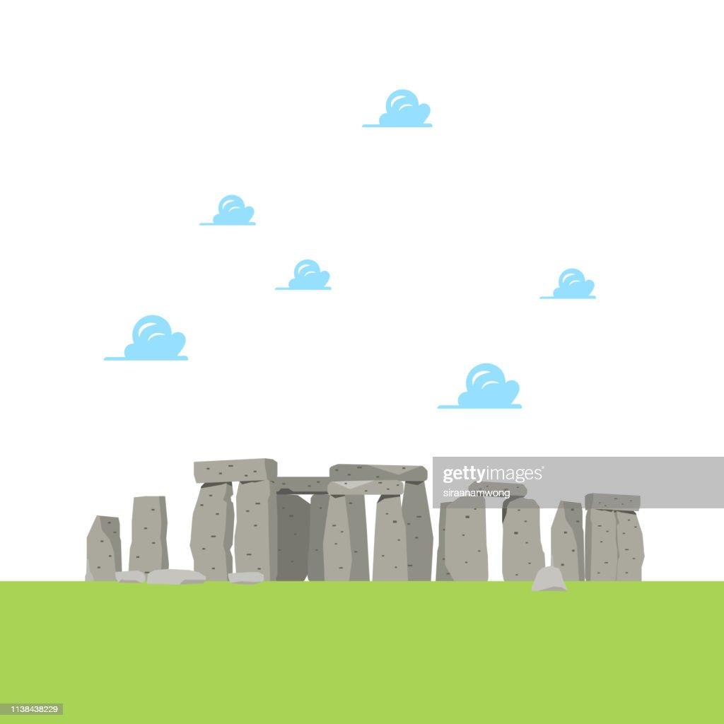 Stonehenge in flat style