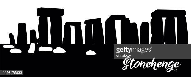 stonehenge ın england - megalith stock illustrations, clip art, cartoons, & icons