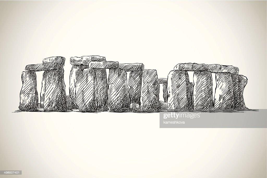 Stonehenge. Vector drawing. UK Landmark.