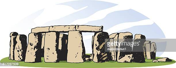 stonehenge - megalith stock illustrations, clip art, cartoons, & icons