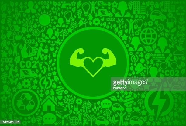stong heart environment green vector icon pattern - activist icon stock illustrations