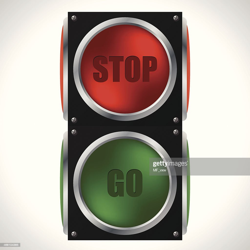 Stop and go traffic light