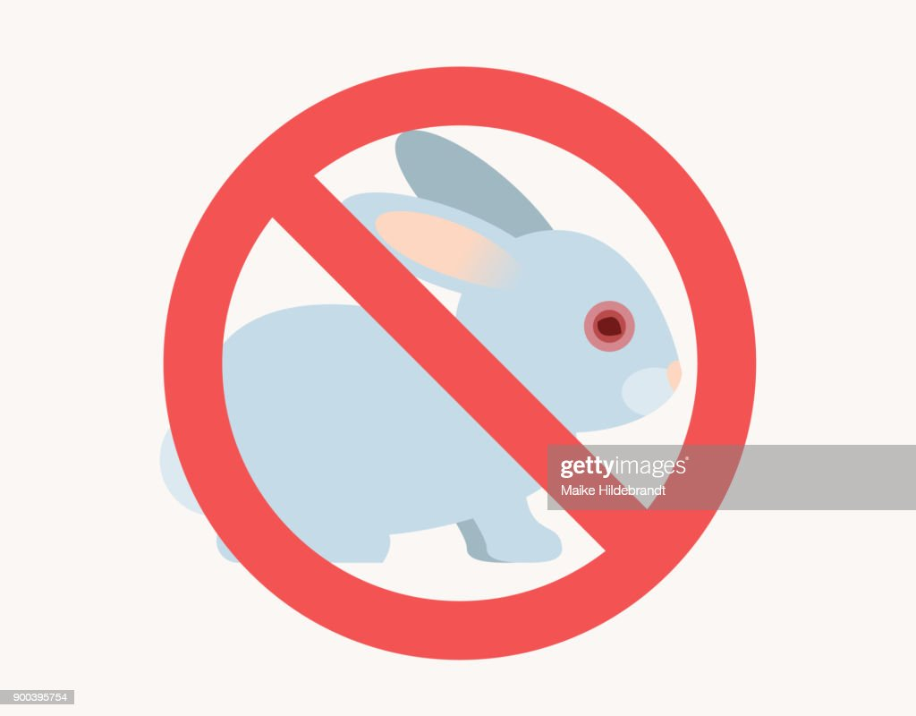 stop animal testing sign Flat Design