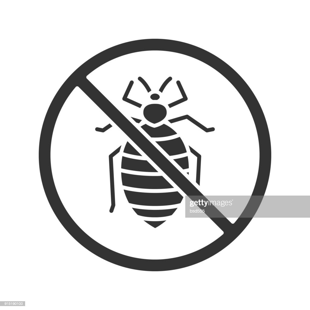 Stop bed bug icon