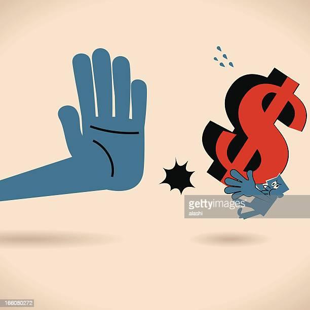 stop bribe - refusing stock illustrations, clip art, cartoons, & icons