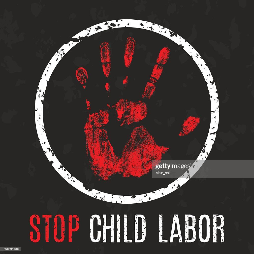 stop child labor vector poster