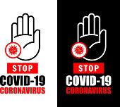 Stop Coronavirus Outbreak Warning Sign