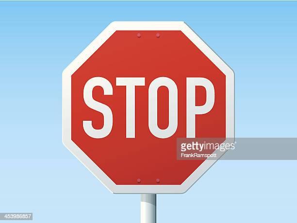 illustrations, cliparts, dessins animés et icônes de arrêt signe de route allemande - panneau stop