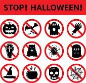 Stop Halloween Signs