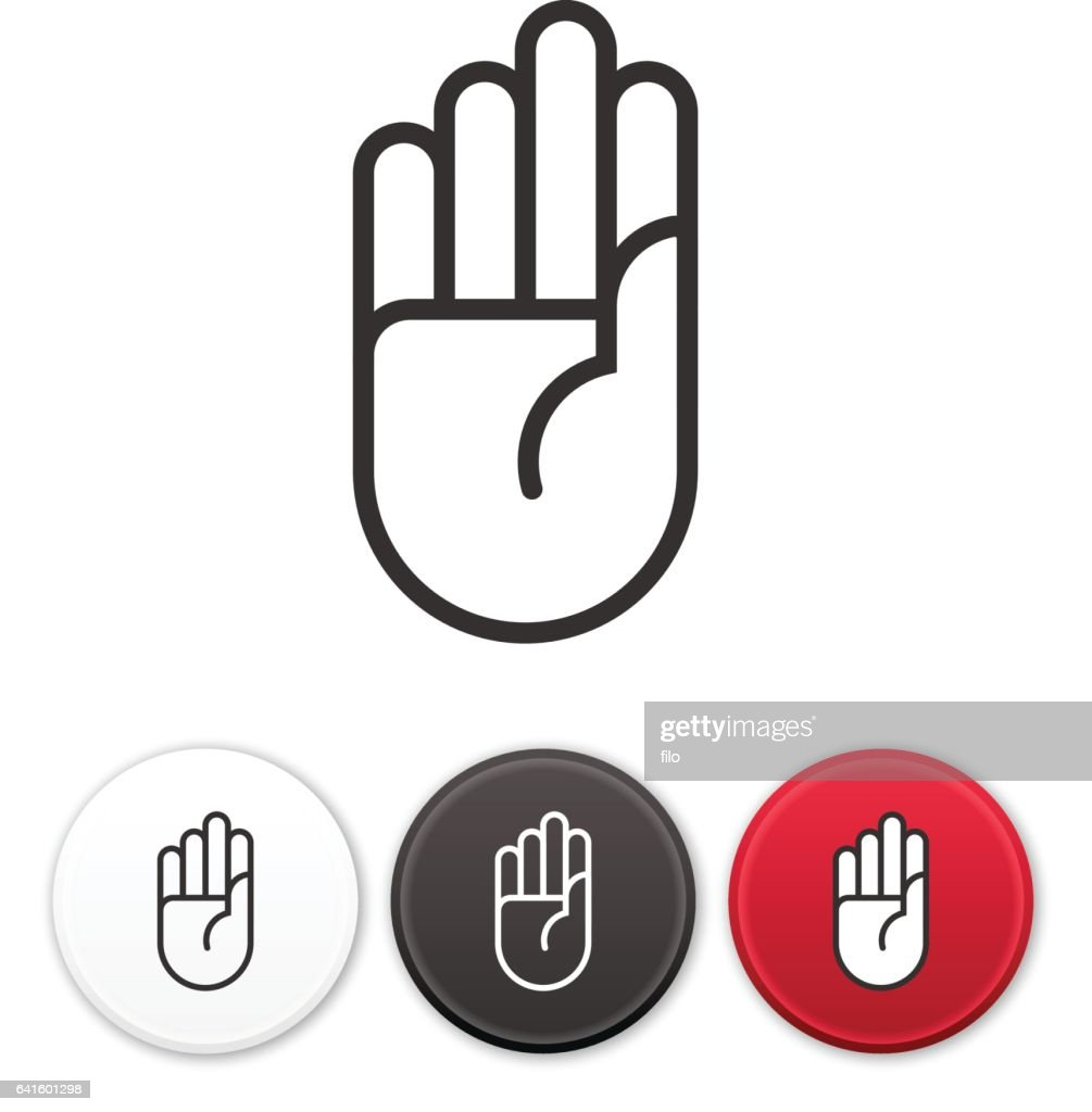 Stop Hand Symbol Vector Art Getty Images
