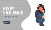 Stop harrasment landing web page. Stop violence