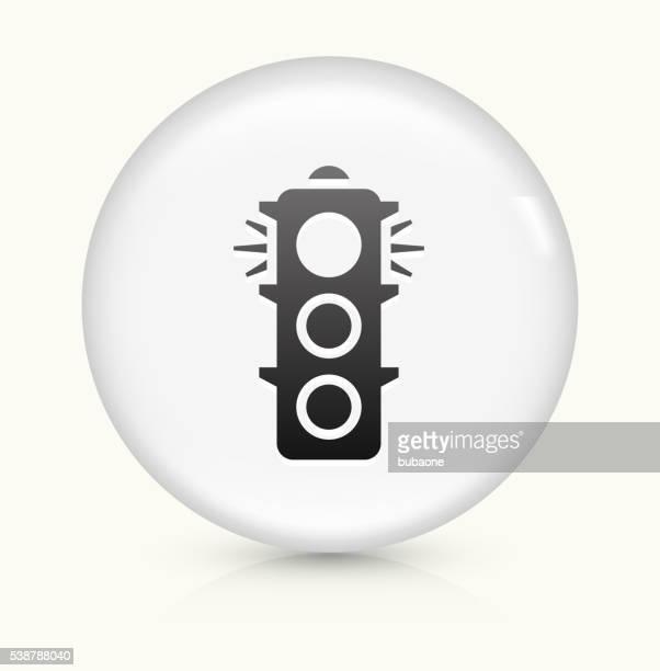 信号白くて丸いベクトルボタンのアイコン - stealth点のイラスト素材/クリップアート素材/マンガ素材/アイコン素材