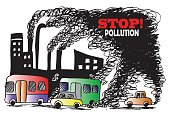stop! pollution. sketch