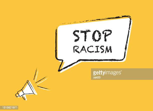 stop racism - activist icon stock illustrations