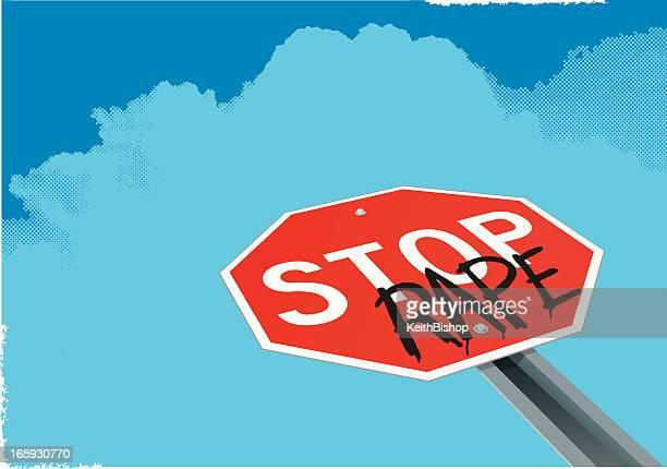 stop 菜種-概念のサイン、性的暴力 - 性的暴行点のイラスト素材/クリップアート素材/マンガ素材/アイコン素材