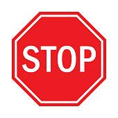 Stop Sign Flat Design.
