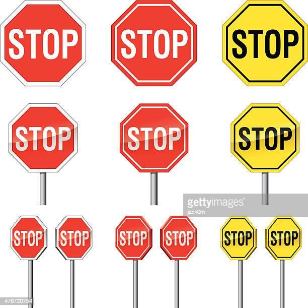 illustrations, cliparts, dessins animés et icônes de panneau stop - panneau stop