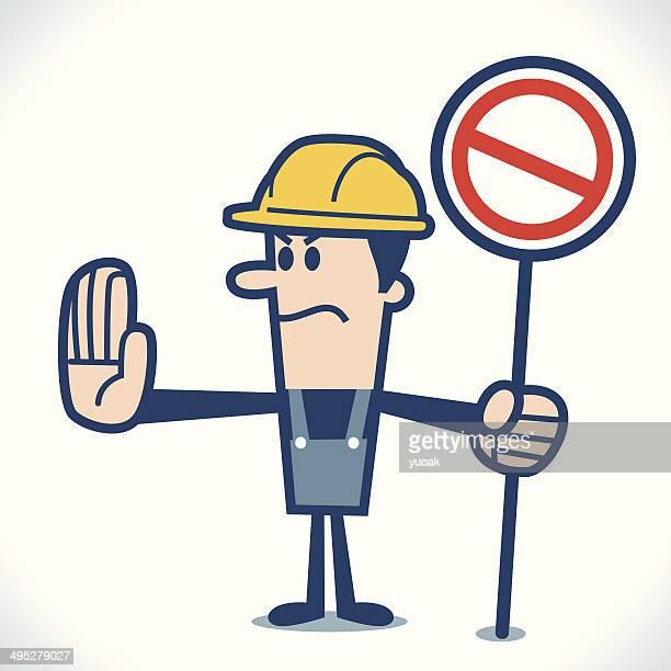 ilustraciones, imágenes clip art, dibujos animados e iconos de stock de señal de stop - electricista
