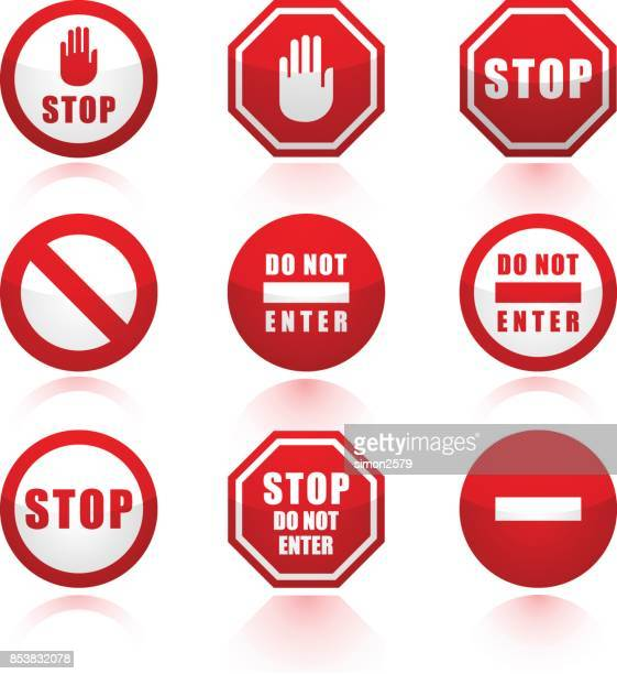 Stop Signs icon set